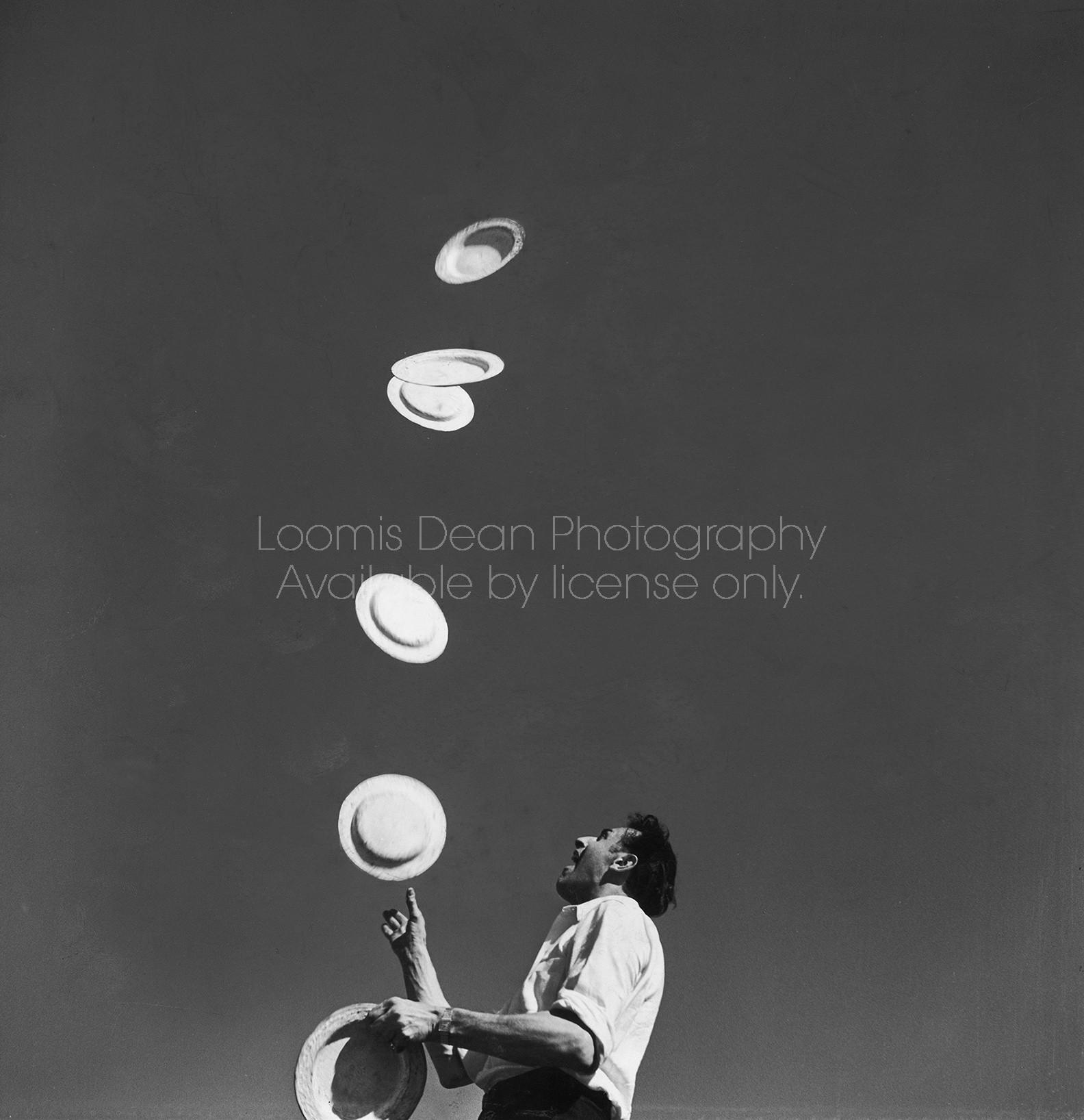 Circus juggler Massimiliano Truzzi performing his act.