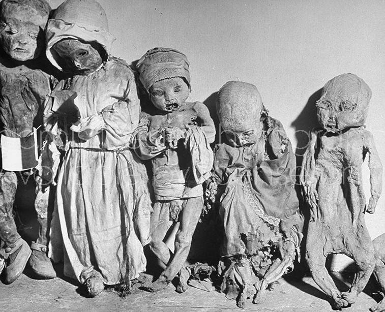 Dead babies rotting while waiting for their proper burial.