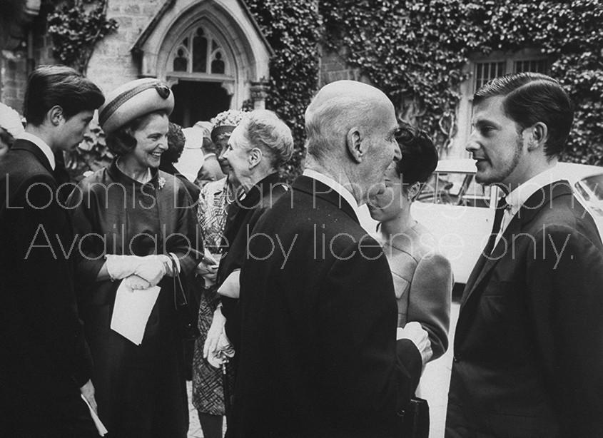 Bulgarian King Simeon II & wife (2R & R), during Prince Louis Ferdinand's 25th wedding anniv. celebration.