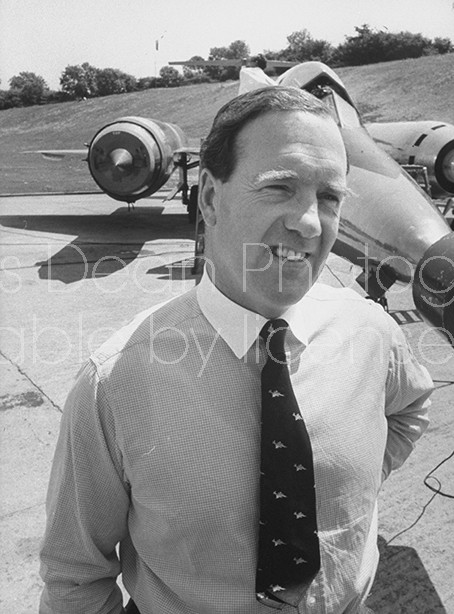 "British test pilot, Godfrey Auty, designated to fly ""Concorde"" supersonic transport on maiden flight from Bristol."