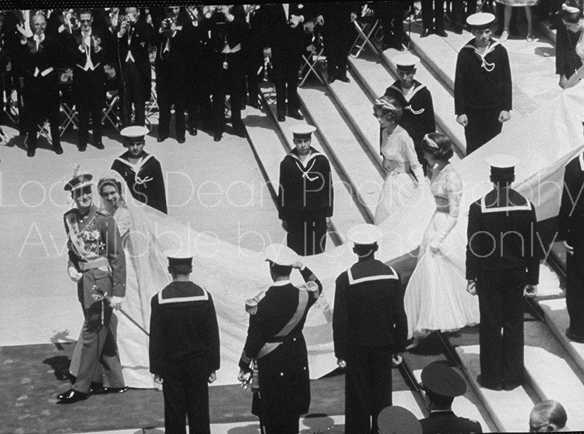 Royal wedding of Spain's Juan Carlos and Princess Sophia.