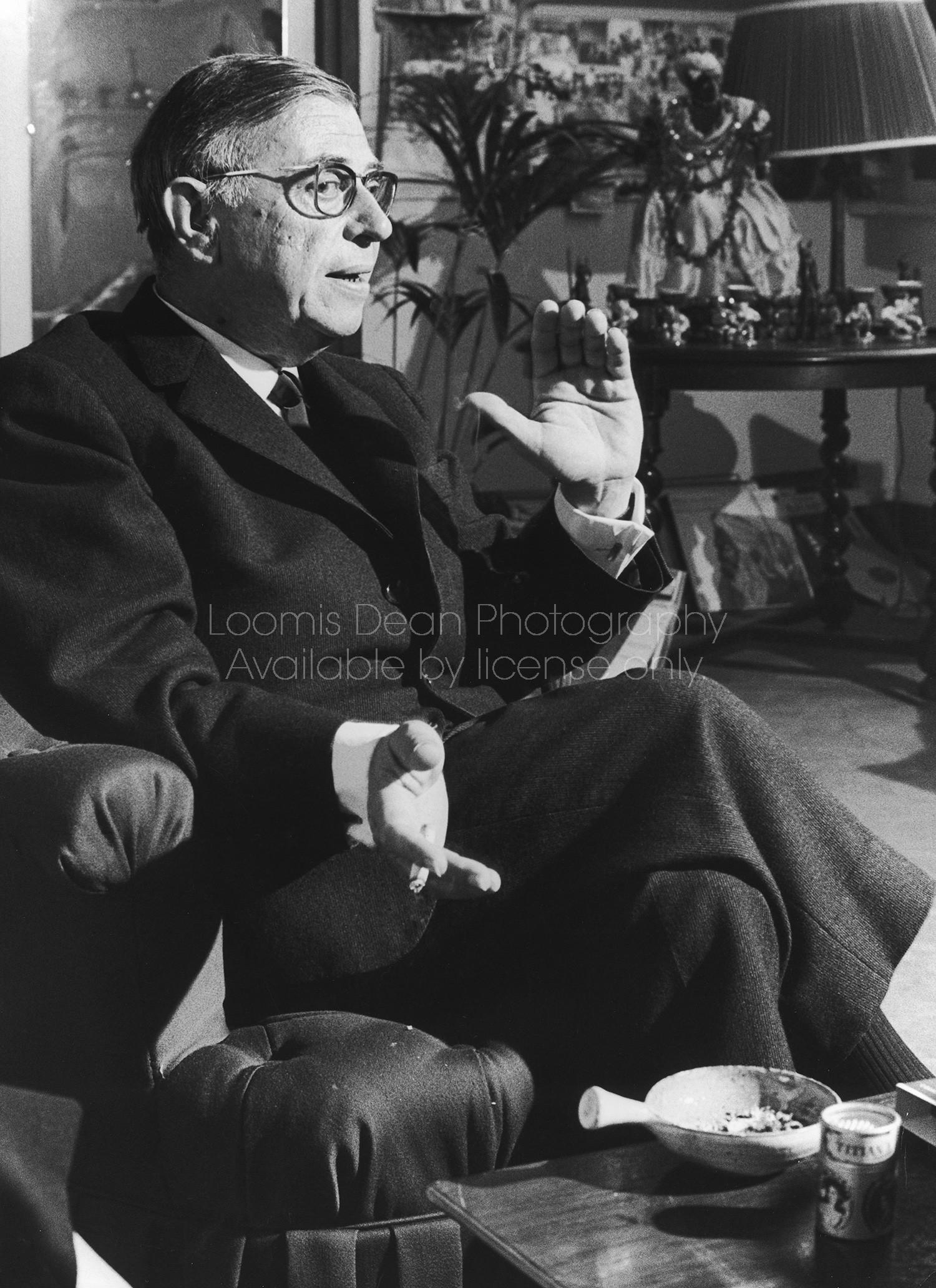 Author Jean Paul Sartre.