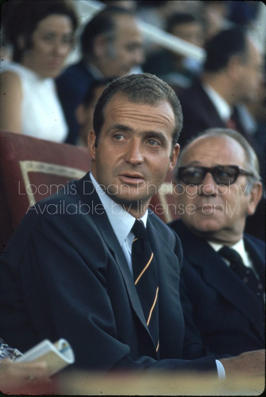 Spanish Prince Juan Carlos at track meet, Madrid.