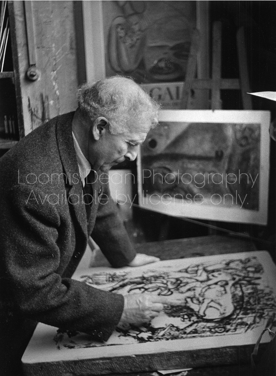 ARTIST CHAGALL DRAWING 529