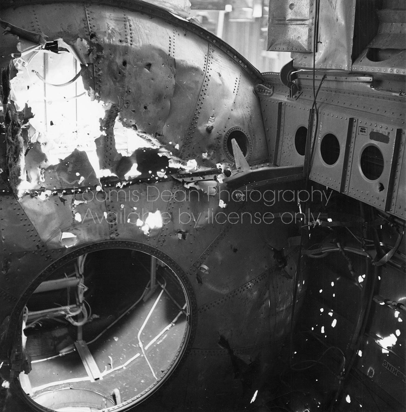 U.S. AIR FORCE B29 BOMBER SHRAPNEL DAMAGE 099
