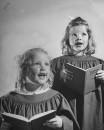 Children singing in children's chior.
