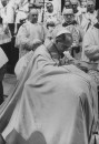 Pope Paul VI (C) at mass celebrating closing of 2nd Vatican Congress.