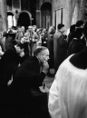 Londoners praying for John F. Kennedy inside Westminister Cathedral.
