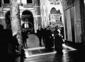 Alec Douglas-Home (C,L), attending mass at Westminister Cathedral after John F. Kennedy's assassination.