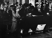 Londoners praying for John F. Kennedy, following his assassination, in Westminister Cathedral.