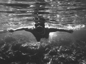 Snorkeler at French vacation Club Mediterranee.
