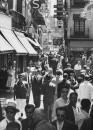 Street scene in unidentified Spanish city.