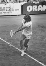 Tennis player Bjorn Borg playing a game of tennis.