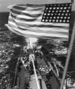 US FLAG ON NAVY SHIP S 137