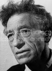 Sculptor Alberto Giacometti, at Zurich Museum.