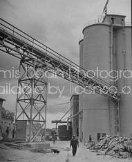A cement factory.
