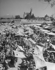 A view of the many stalls at the Toluca Market.