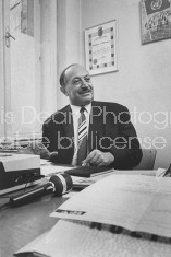 Nazi Pursuer and Author of `The Murderer's Among U', Simon Wiesenthal in his office.