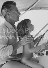 Conductor, Herbert Von Karajan, with daughter.