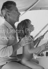 Conductor, Herbert Von Karajan, with daughter.