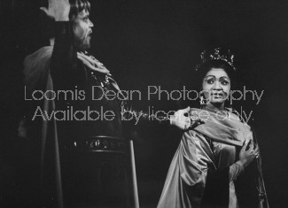 American opera singer Grace Bumbry (R) performing in an opera.