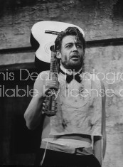 "Actor Peter O'Toole performing in scene from the play ""Baal."""