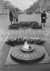Eternal flame burning at the tomb of the unknown soldier.