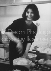 Actress Sophie Loren, attending the Spaghetti and Twist party Life Magazine photographer Loomis Dean's Paris apartment.