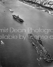 U.S. AIRCRAFT CARRIERS LEAVING PORT S 116