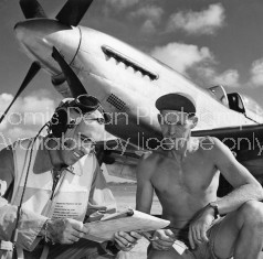 U.S. AIR FORCE COL. MICKEY MOORE AND P51 S 120